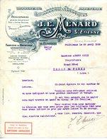 42.LOIRE.SAINT ETIENNE.FIRMINY.IMPRIMERIE.LITHOGRAPHIE ARTISTIQUE.J.E.MENARD 16 & 18 RUE DE LA BOURSE. - Imprimerie & Papeterie