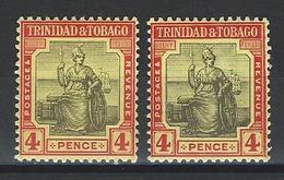 Trinidad & Tobago SG 152, 152b, Mi 73v, 73x * MH - Trinidad & Tobago (...-1961)