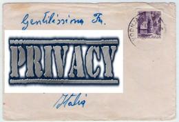 1975. From Jugoslavia To Italy. - 1945-1992 Repubblica Socialista Federale Di Jugoslavia