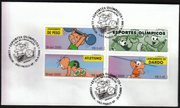 Brasil Sao Paulo 2010 / Olympic Games Sydney / Volleyball, Weightlifting, Athletics / FDC - Verano 2000: Sydney