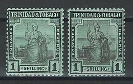 Trinidad & Tobago SG 154, 154a, Mi 75a, 75b * MH - Trinidad & Tobago (...-1961)