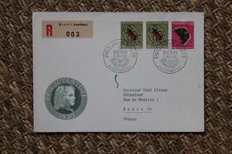 Enveloppe Recommandée Affranchie Pro Juventute Oblitération Bern 1953 - Lettres & Documents