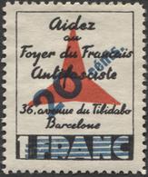 Viñeta Republicana De La Guerra Civil - FOYER DU FRANCAIS ANTIFASCISTA - Spanish Civil War Labels
