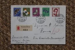 Enveloppe Recommandée Affranchie Pro Juventute Oblitération Gossau 1951 - Pro Juventute