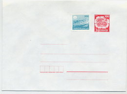 YUGOSLAVIA 1989 Postal Coach 300. D. Envelope + 200 D.stamp, Unused.  Michel U89 - Postal Stationery