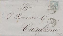 LETTERA 1864 15 CENT TIMBRI LIVORNO E ALTRI /MINIERE E FONDERIE (GX12 - 1861-78 Vittorio Emanuele II