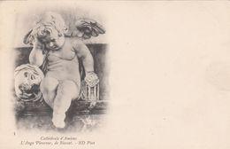 Cp , 80 , AMIENS , Cathédrale , L'Ange Pleureur, De Blasset - Amiens