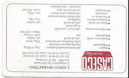 Oenologie/Alcools/CASECO Marketing /Göteborg/Suéde/ Carl-Ake SAND/ Ingénieur/Carte Des Millésimes /1989     OEN5 - Alcools