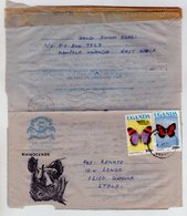 1992. From Uganda To Italy Air Letter.  Papillon Stamps. - Uganda (1962-...)