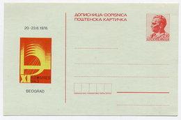 YUGOSLAVIA 1978 1.50d Tito: Communist Party Congress Postcard, Unused.  Michel P198 - Postal Stationery