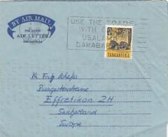 LETTERA 1961 -TANGANYCA - ATTUALE TANZANIA - AEROGRAMMA (GX188 - Tanzania (1964-...)