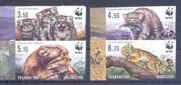 2017. Tajikistan, WWF, Wild Cat Manul, 4v IMPERFORATED, Mint/** - W.W.F.