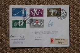 Enveloppe Recommandée Affranchissement Composé Oblitération Gossau 1951 - Svizzera
