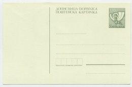YUGOSLAVIA 1988 Posthorn 170 D. Postcard, Unused.  Michel P197 - Postal Stationery