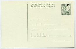 YUGOSLAVIA 1988 Posthorn Surcharge 170 On 120 D. Postcard, Unused.  Michel P196 - Postal Stationery