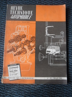 Revue Technique Automobile VOLKSWAGEN 1500 Cm Cube - FACEL VEGA Tous Modèles - N°231 Juillet 1965 - Auto/Motor