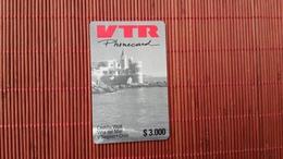 CHILE VTR Prepaid Card $3000 2 Scans - Chile