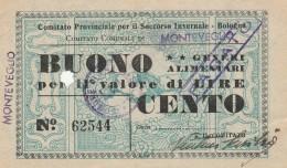 BUONO GENERI ALIMENTARI SOCCORSO INVERNALE (FORO) (GX361 - Documentos Históricos