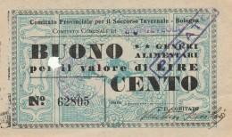 BUONO GENERI ALIMENTARI SOCCORSO INVERNALE (FORO) (GX362 - Documentos Históricos