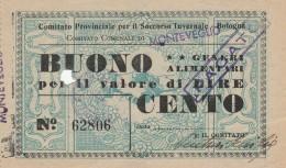 BUONO GENERI ALIMENTARI SOCCORSO INVERNALE (FORO) (GX363 - Documentos Históricos