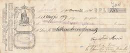 CAMBIALE PAGATA 1929 BPL (GX382 - Formato Piccolo : ...-1900