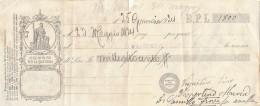 CAMBIALE PAGATA 1924 BPL (GX383 - Formato Piccolo : ...-1900