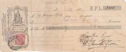 CAMBIALE PAGATA 1922 BPL CON DUE MARCHE REGNO PER CAMBIALI (GX384 - Formato Piccolo : ...-1900