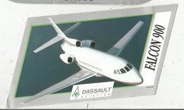 Autocollant, 19 X 10, Aviation , Avion , DASSAULT Aviation , FALCON 900 , Frais Fr 1.45e - Autocollants