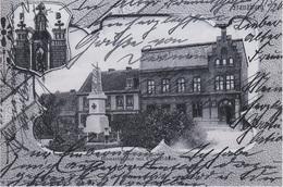 Repro Foto AK Franzburg Bismarckplatz Postgebäude Post A Richtenberg Drechow Tribsees Grimmen Velgast Abtshagen Neudruck - Repro's