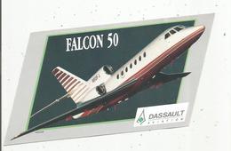 Autocollant, 19 X 10, Aviation , Avion , DASSAULT Aviation , FALCON 50 , Frais Fr 1.45e - Autocollants