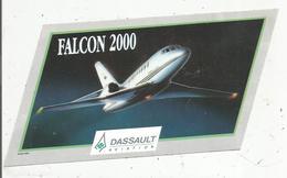 Autocollant, 19 X 10, Aviation , Avion , DASSAULT Aviation , FALCON 2000 , Frais Fr 1.45e - Autocollants
