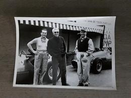 FORMULE1 GRAND PRIX FRANCORCH1952 L Equipe FERRARI ALBERTO ASCARI +PIERO TARUFFI +GIUSEPPE FARINA Afmetingen 13 Cm Op 18 - Automobiles