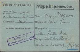 Kriegsgefangenensendung Zulässig 9 Postüberwachungsstelle, Geschrieben 14.4.18 - Zonder Classificatie