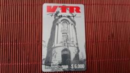CHILE VTR Prepaid Card $6000 2 Scans Rare - Chile
