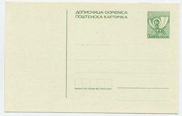 YUGOSLAVIA 1983 Posthorn 4 D. Postcard, Unused. Michel P184 - Postal Stationery