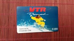 CHILE VTR Prepaid Card $3000 (Mint,Neuve)  2 Scans Rare - Chile