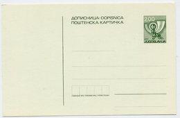 YUGOSLAVIA 1980 Posthorn 2 D. Postcard, Unused. Michel P181 - Postal Stationery
