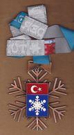 AC - TURKEY SKI FEDERATION MEDAL = III 2009 SNOWFLAKE - Winter Sports