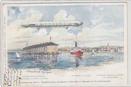 Aufstieg Des Graf V. Zeppelin - 2.8.1900 - UPU-Frankatur    (80314) - Aeronaves