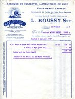 46.LOT.CAHORS.FOIES GRAS.TRUFFES.FABRIQUE DE CONSERVES ALIMENTAIRES DE LUXE.L.ROUSSY. - Alimentaire