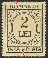 Romania 1920/1926 Mi.no.59 Portomarken  Rare Error.MNH - Otros
