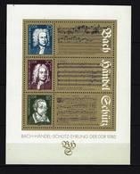 DDR - Block Mi-Nr. 81 - 300. Geburtstag Bach - Händel + 400. Schütz Postfrisch - [6] República Democrática