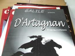 Affiche - Galie - D'Artagnan D'apres A Dumat - Manifesti
