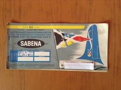 Ticket Avion Sabena 1957 - Billets D'embarquement D'avion