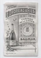 Oenologie/Alcools/Tirage D'essai D'époque De Carte Commerciale/THOREAU & Fils/Château De La Chèze/SAUMUR/ Vers1880  OEN6 - Alcools