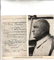 IL VERBALE DI NOMINA DEL DUCE A PILOTA MILITARE-_Ben Conservata _ - Historical Documents