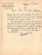 COLOGNE KOLN COURRIER 1912 FRUITS LEGUMES ERNEST MATHIEU  *A21 - 1900 – 1949