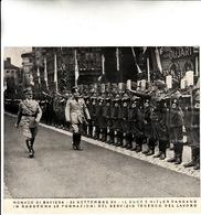 FASCISMO-MONACO Di BAVIERA-25 Sett.XV-Il Duce E Hitler Passano In Rassegna Le Formazioni Del Servizio Tedesco Del Lavoro - Photographie