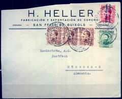 1932 , GERONA , SAN FELIÚ DE GUIXOLS - MÜNICH , SOBRE CIRCULADO - 1875-1882 Royaume: Alphonse XII