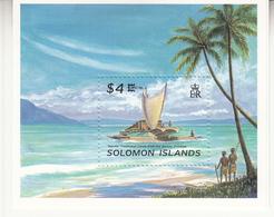 1996 Solomon Islands Capex Sail Boat Souvenir Sheet MNH - Solomon Islands (1978-...)